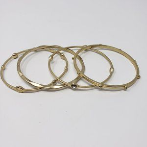 Lia Sophia Jewelry - Lia Sophia Gold Tone Crystal Bangle Bracelet Set 4